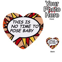 Comic Book This Is No Time To Pose Baby Multi Purpose Cards (heart)
