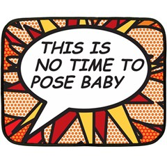 Comic Book This Is No Time To Pose Baby Fleece Blanket (Mini)