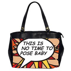 Comic Book This Is No Time To Pose Baby Office Handbags (2 Sides)