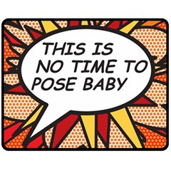 Comic Book This Is No Time To Pose Baby Fleece Blanket (Medium)