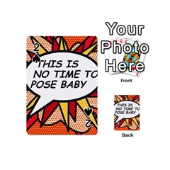 Comic Book This Is No Time To Pose Baby Playing Cards 54 (Mini)