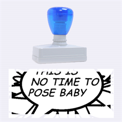 Comic Book This Is No Time To Pose Baby Rubber Stamps (Large)