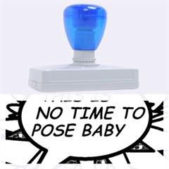 Comic Book This Is No Time To Pose Baby Rubber Address Stamps (xl)
