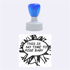 Comic Book This Is No Time To Pose Baby Rubber Round Stamps (Medium)