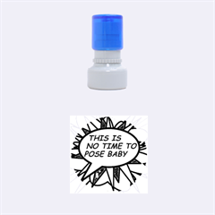 Comic Book This Is No Time To Pose Baby Rubber Round Stamps (Small)