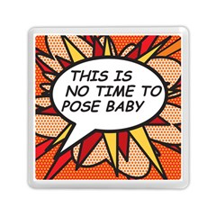 Comic Book This Is No Time To Pose Baby Memory Card Reader (Square)