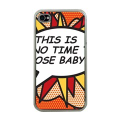 Comic Book This Is No Time To Pose Baby Apple iPhone 4 Case (Clear)