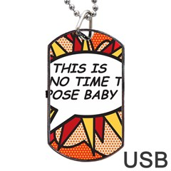 Comic Book This Is No Time To Pose Baby Dog Tag USB Flash (One Side)