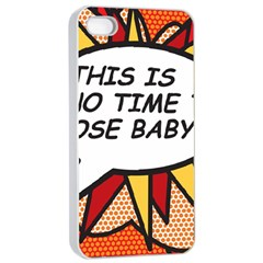 Comic Book This Is No Time To Pose Baby Apple iPhone 4/4s Seamless Case (White)