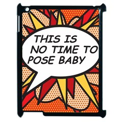 Comic Book This Is No Time To Pose Baby Apple iPad 2 Case (Black)