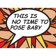 Comic Book This Is No Time To Pose Baby Birthday Cake 3d Greeting Card (7x5)