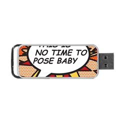 Comic Book This Is No Time To Pose Baby Portable USB Flash (One Side)