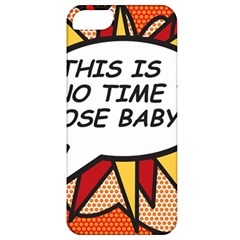 Comic Book This Is No Time To Pose Baby Apple iPhone 5 Classic Hardshell Case