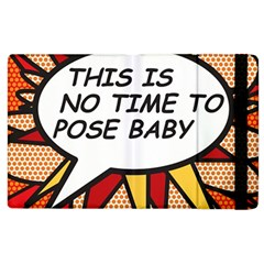 Comic Book This Is No Time To Pose Baby Apple iPad 3/4 Flip Case