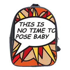 Comic Book This Is No Time To Pose Baby School Bags (XL)