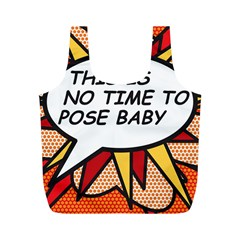Comic Book This Is No Time To Pose Baby Full Print Recycle Bags (M)