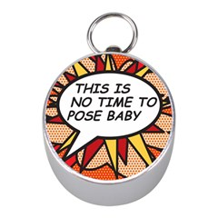 Comic Book This Is No Time To Pose Baby Mini Silver Compasses