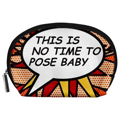Comic Book This Is No Time To Pose Baby Accessory Pouches (Large)
