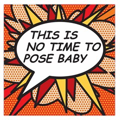 Comic Book This Is No Time To Pose Baby Large Satin Scarf (Square)