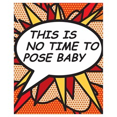 Comic Book This Is No Time To Pose Baby Drawstring Bag (Small)