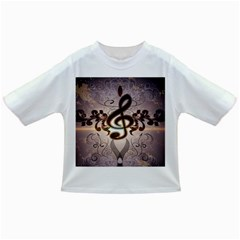 Music, Wonderful Clef With Floral Elements Infant/Toddler T-Shirts