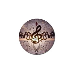 Music, Wonderful Clef With Floral Elements Golf Ball Marker (4 pack)