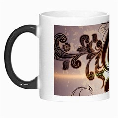 Music, Wonderful Clef With Floral Elements Morph Mugs