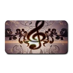 Music, Wonderful Clef With Floral Elements Medium Bar Mats