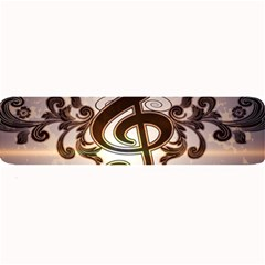 Music, Wonderful Clef With Floral Elements Large Bar Mats