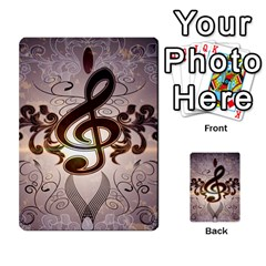 Music, Wonderful Clef With Floral Elements Multi Purpose Cards (rectangle)