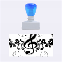 Music, Wonderful Clef With Floral Elements Rubber Stamps (medium)