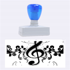 Music, Wonderful Clef With Floral Elements Rubber Stamps (Large)