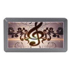 Music, Wonderful Clef With Floral Elements Memory Card Reader (Mini)