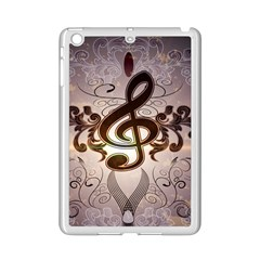 Music, Wonderful Clef With Floral Elements iPad Mini 2 Enamel Coated Cases
