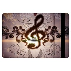 Music, Wonderful Clef With Floral Elements Ipad Air Flip