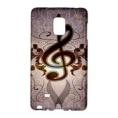 Music, Wonderful Clef With Floral Elements Galaxy Note Edge