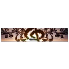 Music, Wonderful Clef With Floral Elements Flano Scarf (small)