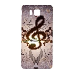 Music, Wonderful Clef With Floral Elements Samsung Galaxy Alpha Hardshell Back Case