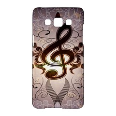 Music, Wonderful Clef With Floral Elements Samsung Galaxy A5 Hardshell Case
