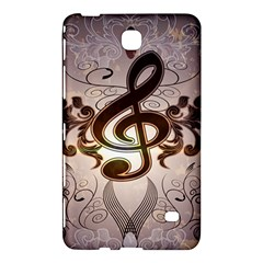 Music, Wonderful Clef With Floral Elements Samsung Galaxy Tab 4 (8 ) Hardshell Case
