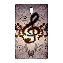 Music, Wonderful Clef With Floral Elements Samsung Galaxy Tab S (8.4 ) Hardshell Case