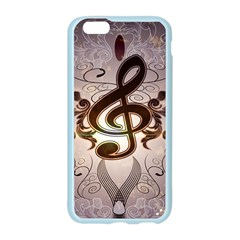 Music, Wonderful Clef With Floral Elements Apple Seamless iPhone 6/6S Case (Color)