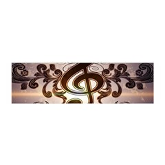 Music, Wonderful Clef With Floral Elements Satin Scarf (oblong)