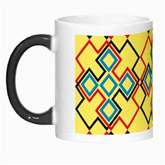 Shapes on a yellow background Morph Mug