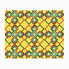 Shapes on a yellow background Small Glasses Cloth