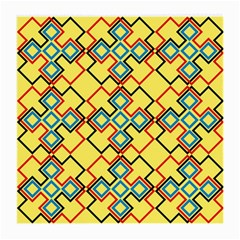 Shapes On A Yellow Background Medium Glasses Cloth