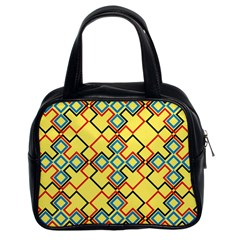 Shapes on a yellow background Classic Handbag (Two Sides)