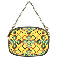 Shapes on a yellow background Chain Purse (Two Sides)