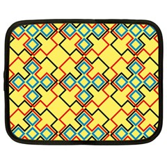 Shapes on a yellow background Netbook Case (XXL)
