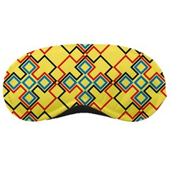 Shapes on a yellow background Sleeping Mask